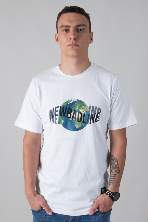 NEW BAD LINE T-SHIRT EARTH WHITE