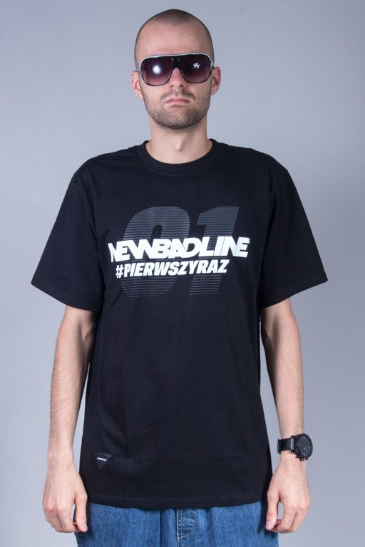 NEW BAD LINE T-SHIRT PIERWSZY RAZ BLACK