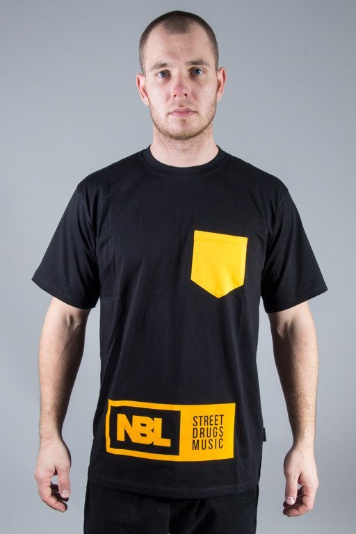 NEW BAD LINE T-SHIRT SDM POCKET BLACK-YELLOW