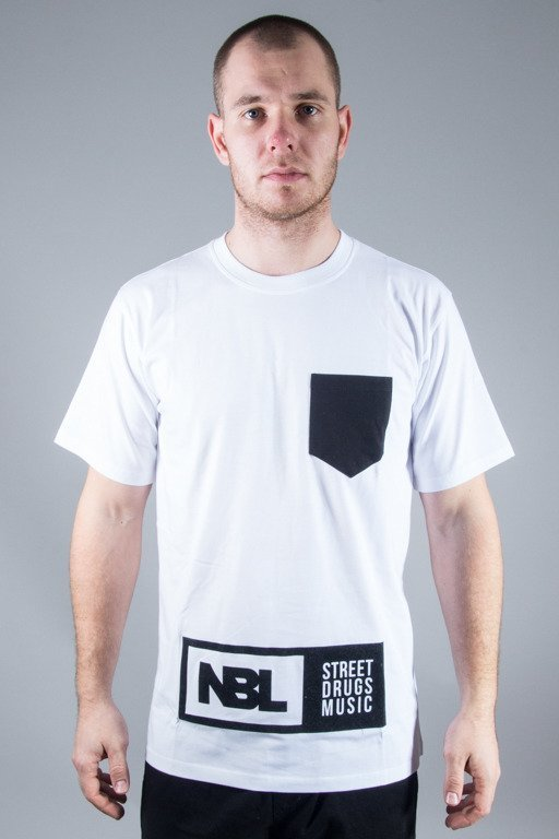 NEW BAD LINE T-SHIRT SDM POCKET WHITE-BLACK
