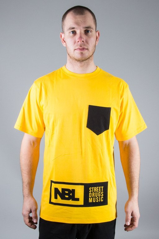 NEW BAD LINE T-SHIRT SDM POCKET YELLOW-BLACK