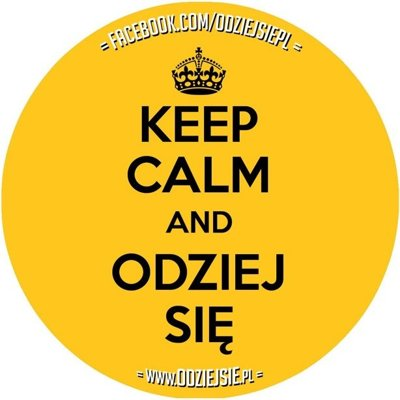 ODZIEJSIE WLEPKA KEEP CALM YELLOW