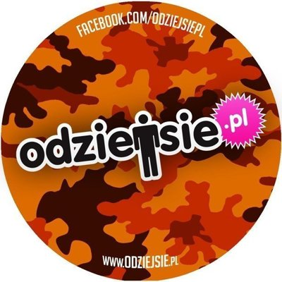 ODZIEJSIE WLEPKA LOGO MORO ORANGE