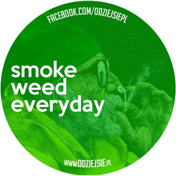 ODZIEJSIE WLEPKA SMOKE WEED EVERYDAY GREEN