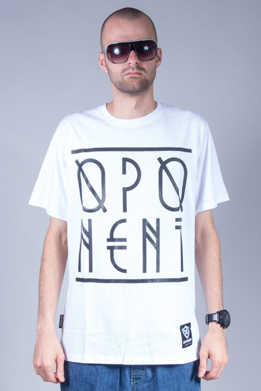 OPONENT T-SHIRT LINES WHITE