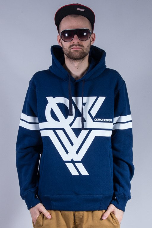 OUTSIDEWEAR BLUZA Z KAPTUREM HOCKEY NAVY