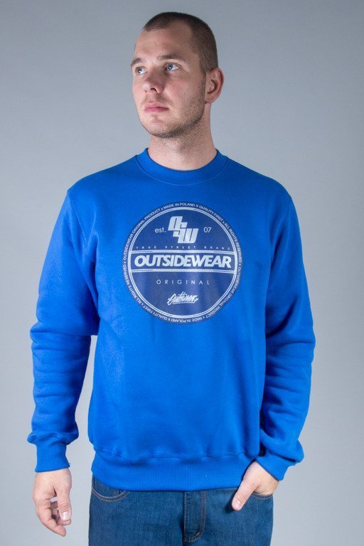 OUTSIDEWEAR CREWNECK STICKER BLUE