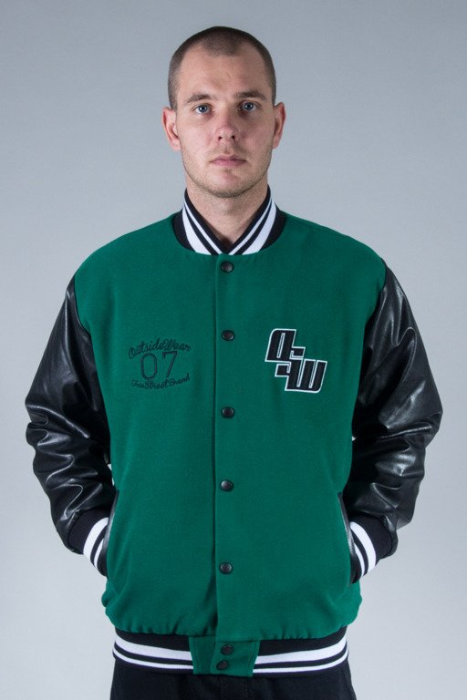 OUTSIDEWEAR JACKET BASEBALL VARSITY GREEN