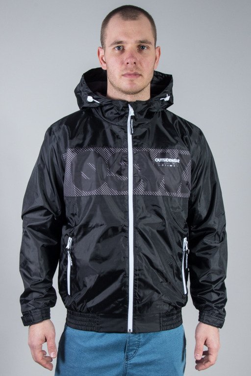 OUTSIDEWEAR JACKET ZIP WINDBREAKS BLACK