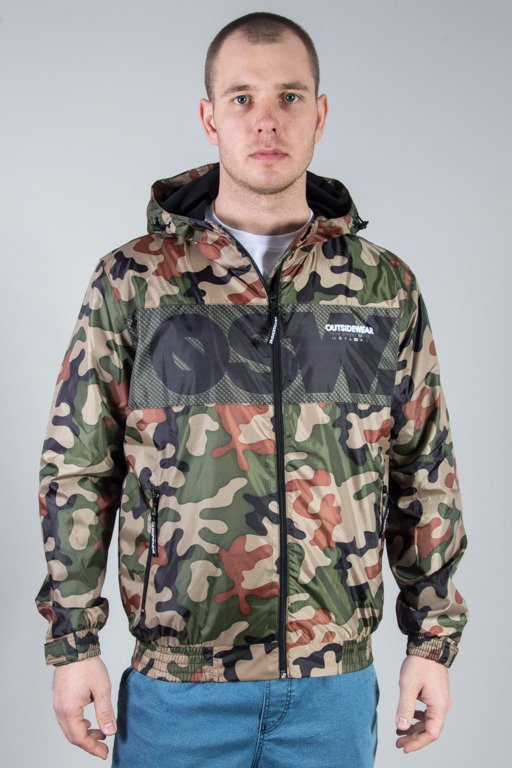 OUTSIDEWEAR JACKET ZIP WINDBREAKS CAMO