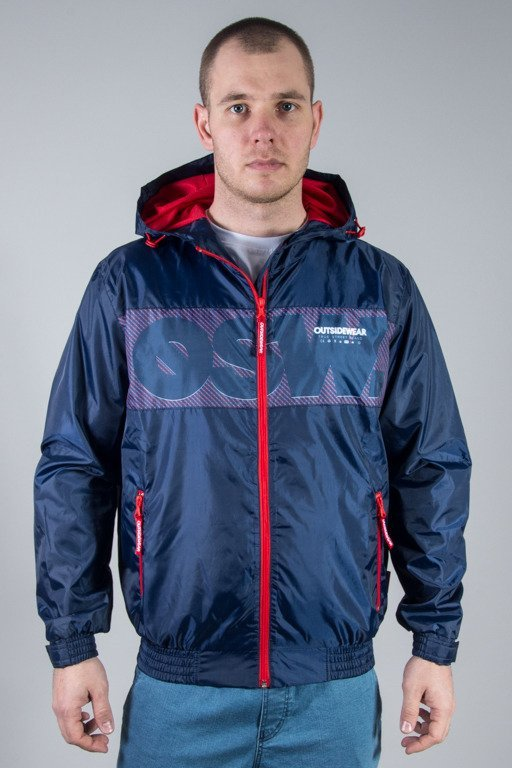 OUTSIDEWEAR JACKET ZIP WINDBREAKS NAVY