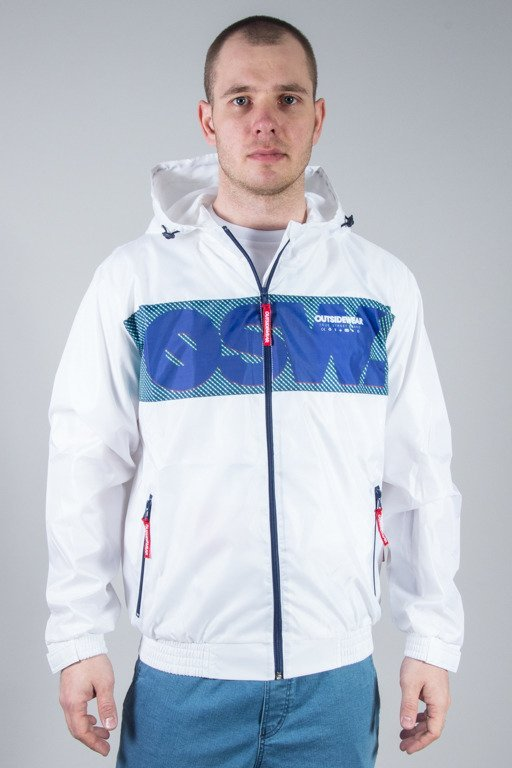 OUTSIDEWEAR JACKET ZIP WINDBREAKS WHITE