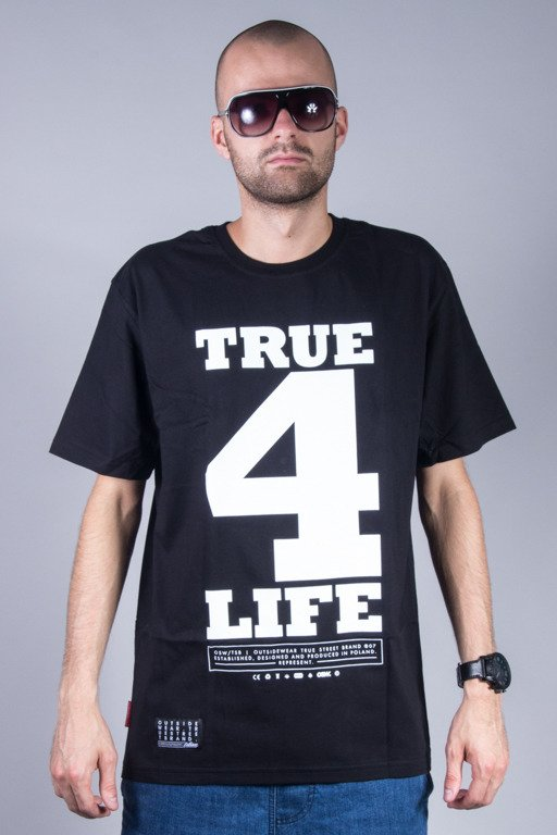 OUTSIDEWEAR T-SHIRT TRUE4LIFE BLACK