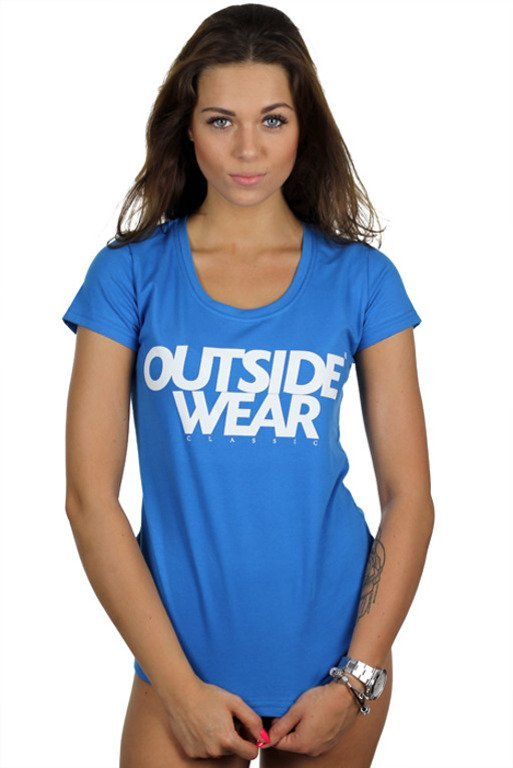 OUTSIDEWEAR T-SHIRT WOMAN CLASSIC BLUE