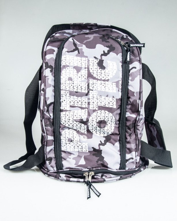 PATRIOTIC BACKPACK CLS FONTS CAMO GREY
