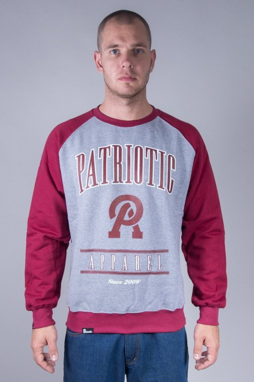 PATRIOTIC CREWNECK APPAREL MELANGE-BRICK