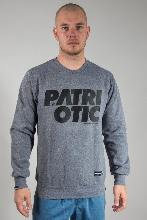 PATRIOTIC CREWNECK CLS GREY