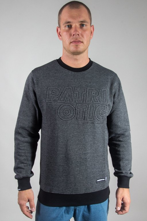 PATRIOTIC CREWNECK CLS STAMP GREY