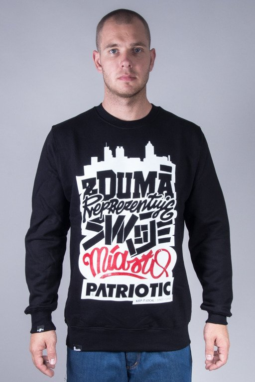 PATRIOTIC CREWNECK DUMA BLACK