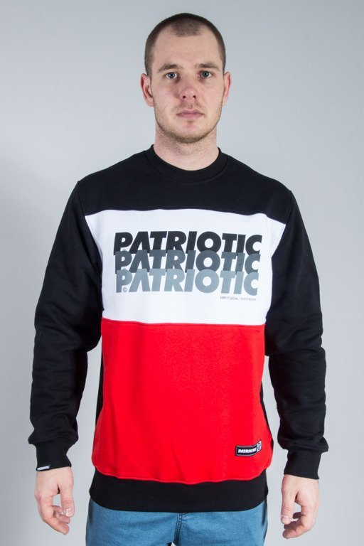 PATRIOTIC CREWNECK F TRIO RED-WHITE-BLACK