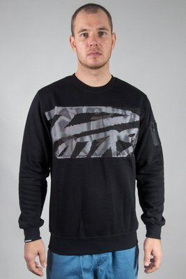 PATRIOTIC CREWNECK MESH TAG LOGO BOX BLACK-CAMO