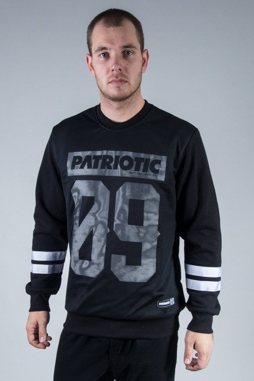 PATRIOTIC CREWNECK MESH09 BLACK-WHITE