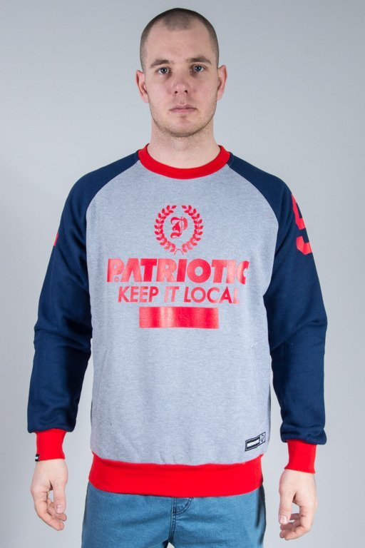 PATRIOTIC CREWNECK P LAUR GREY-NAVY