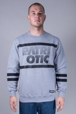 PATRIOTIC CREWNECK PARTICLES GREY