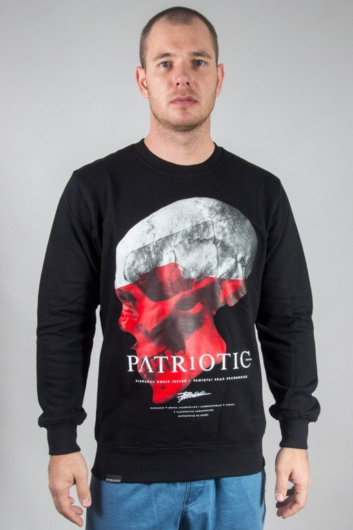 PATRIOTIC CREWNECK SKULL BLACK