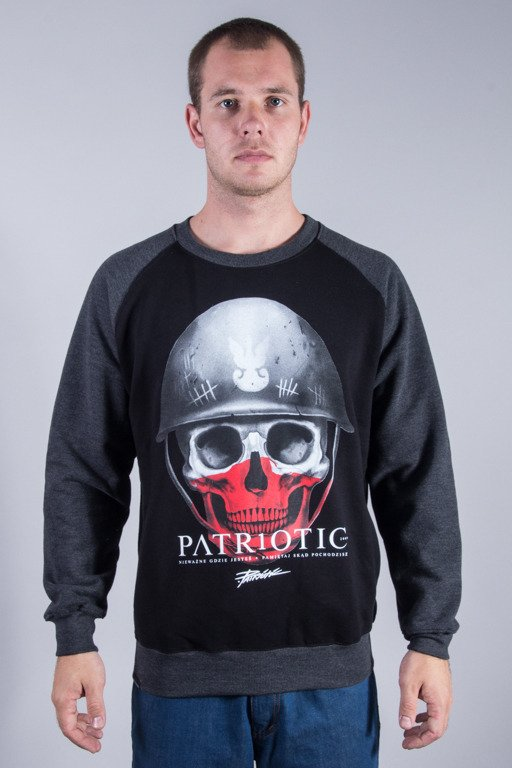 PATRIOTIC CREWNECK SKULL NEW BLACK