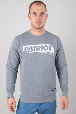 PATRIOTIC CREWNECK STICKER MELANGE