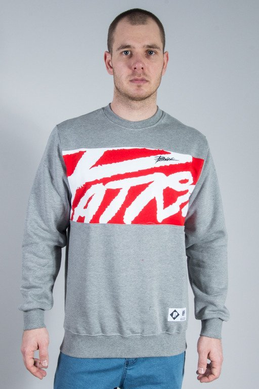 PATRIOTIC CREWNECK TAG BOX GREY