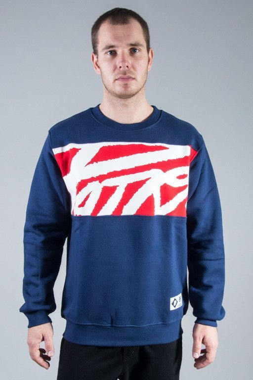 PATRIOTIC CREWNECK TAG NAVY
