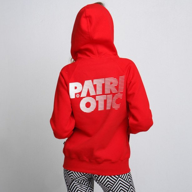 PATRIOTIC GIRL HOODIE ZIP CLS RED