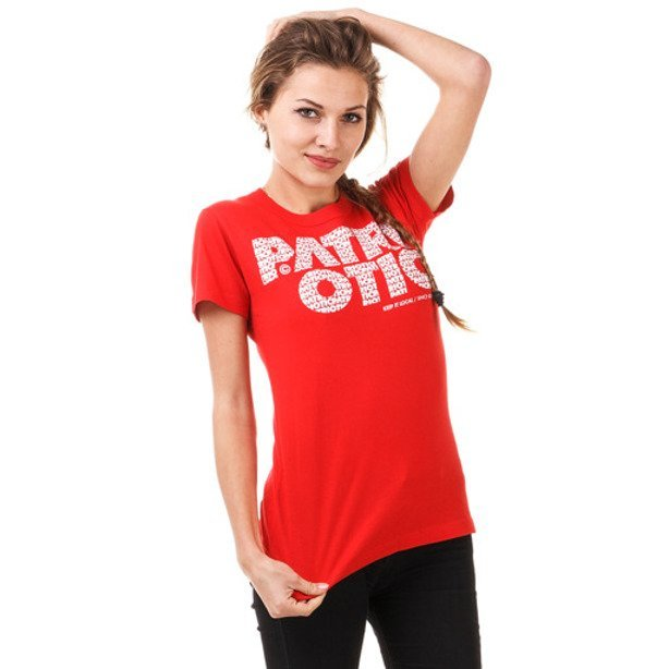 PATRIOTIC GIRL KOSZULKA CLS FONTS RED
