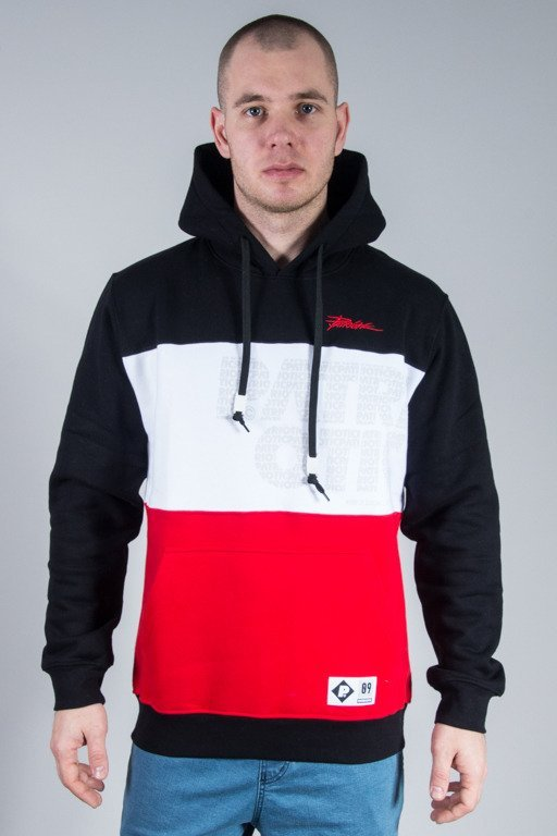 PATRIOTIC HOODIE CLS TRIO BLACK-WHITE-RED
