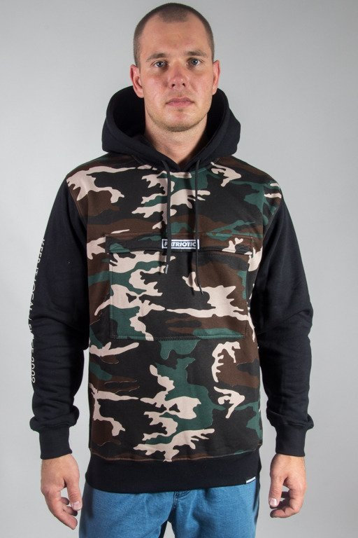 PATRIOTIC HOODIE FUTURA POCKET CAMO-BLACK