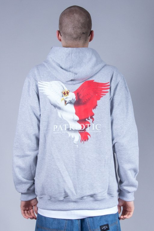 PATRIOTIC HOODIE ZIP EAGLE NEW MELANGE