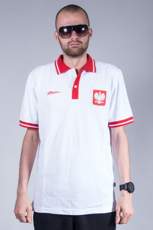 PATRIOTIC POLO GODŁO TAG WHITE