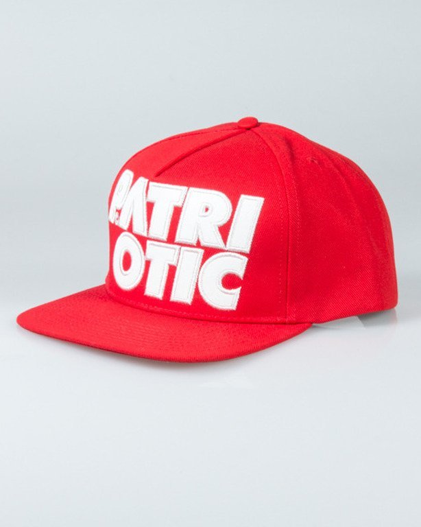 PATRIOTIC SNAPBACK CLS LEATHER RED