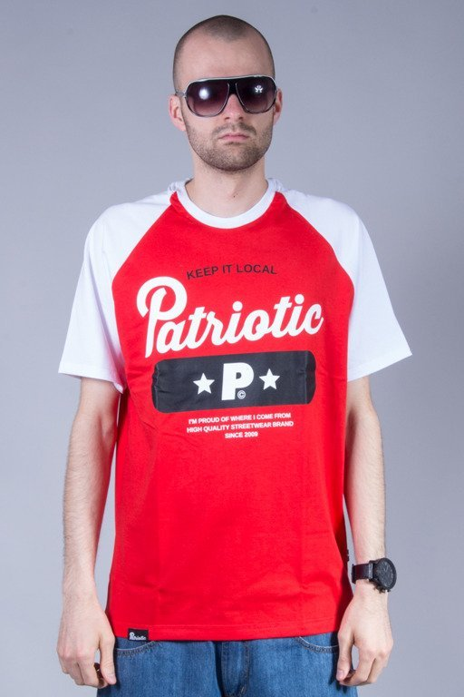 PATRIOTIC T-SHIRT BASE RED-WHITE