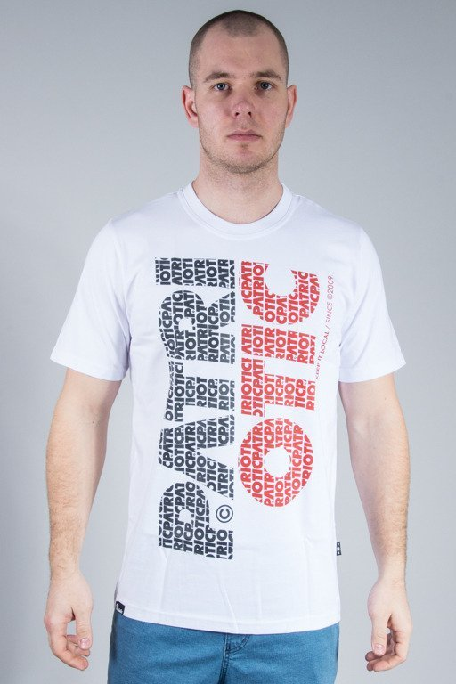 PATRIOTIC T-SHIRT CLS FONTS PION WHITE