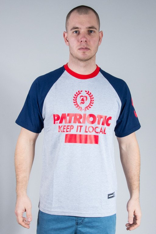 PATRIOTIC T-SHIRT P LAUR GREY