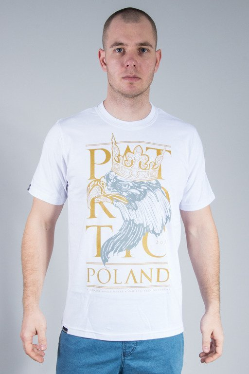 PATRIOTIC T-SHIRT POLAND EAGLE WHITE