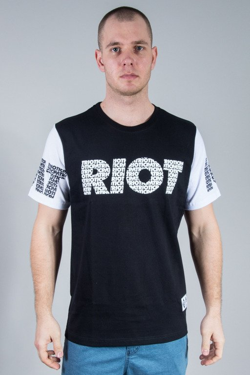 PATRIOTIC T-SHIRT RIOT FONTS BLACK