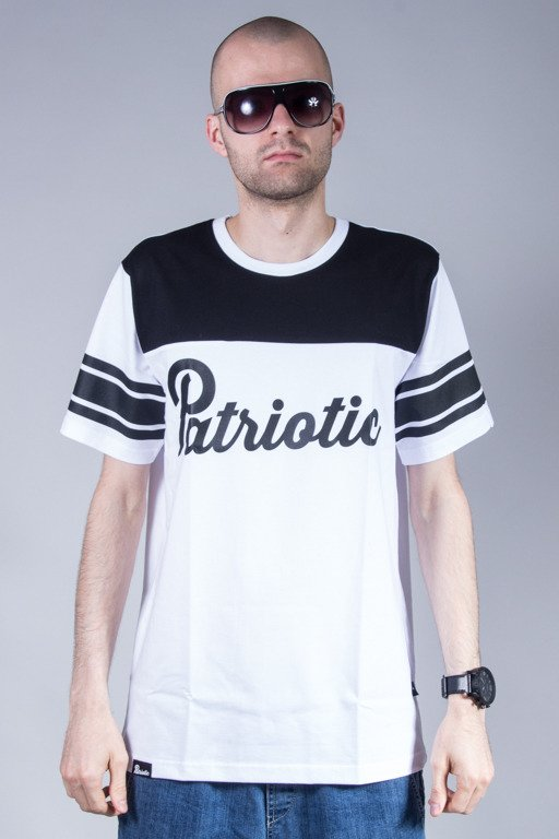 PATRIOTIC T-SHIRT SCHOULDER BLACK-WHITE