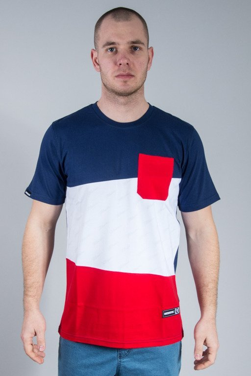 PATRIOTIC T-SHIRT TAG S POCKET NAVY