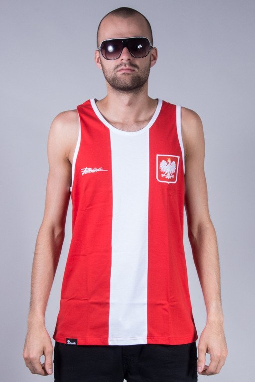 PATRIOTIC TANK TOP GODŁO TAG RED