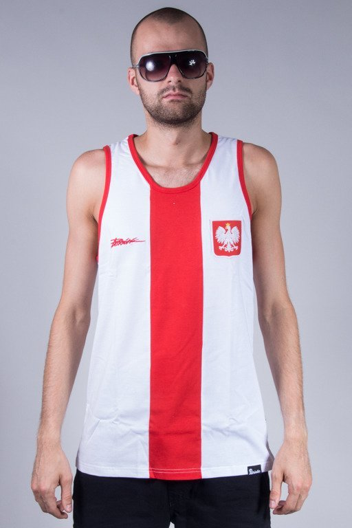 PATRIOTIC TANK TOP GODŁO TAG WHITE