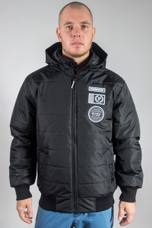 PATRIOTIC WINTER JACKET FUTURA BADGE BLACK